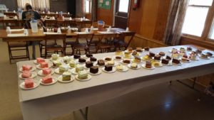 dessert table for community center dinner