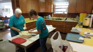 Volunteers at Fertigs Community Center