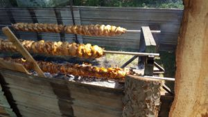 open pit rotisserie chicken